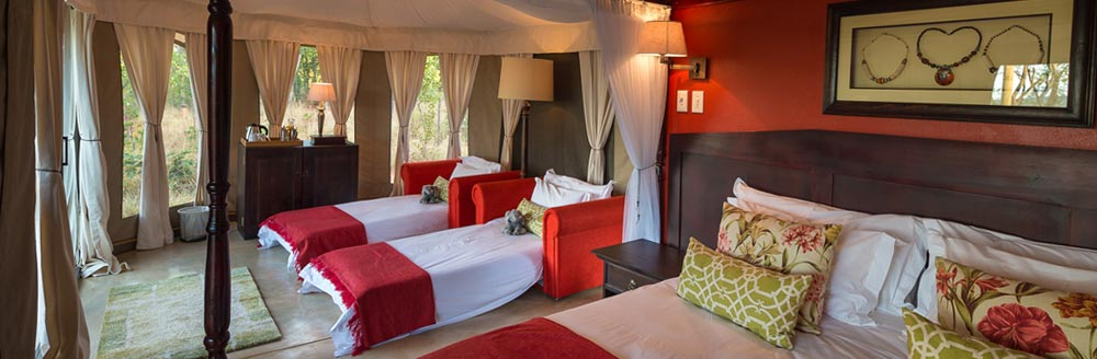 Unforgettable Zimbabwe Safari - Exclusive Adventures - Elephant Camp - West Room
